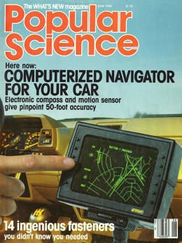 Etak's pre-GPS navigation system made the cover of Popular Science in 1985.