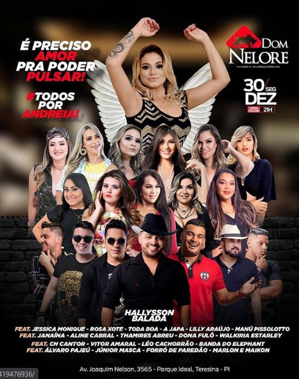 Evento organizado pela família e amigos da cantora — Foto: Divulgação/ Instagram