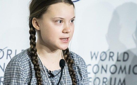 Greta Thunberg, au World Economic Forum.