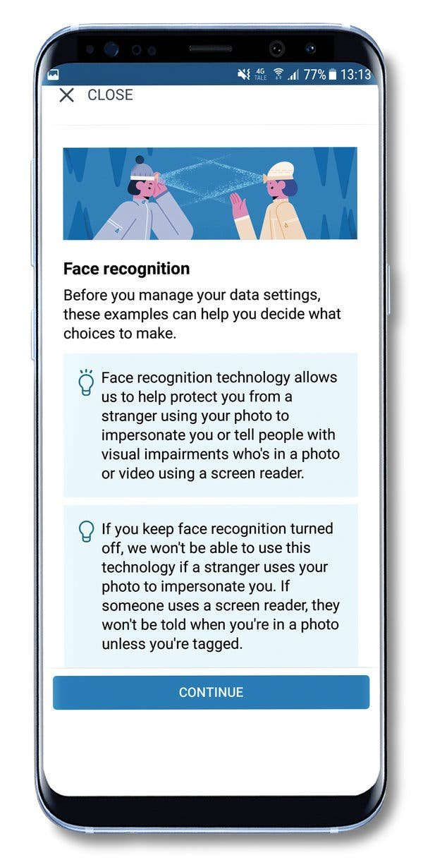 Facebook notified users in Europe this year that they could choose to turn on the social network's facial recognition services. Some critics say Facebook tried to manipulate consent by promoting the service as an identity protection tool.