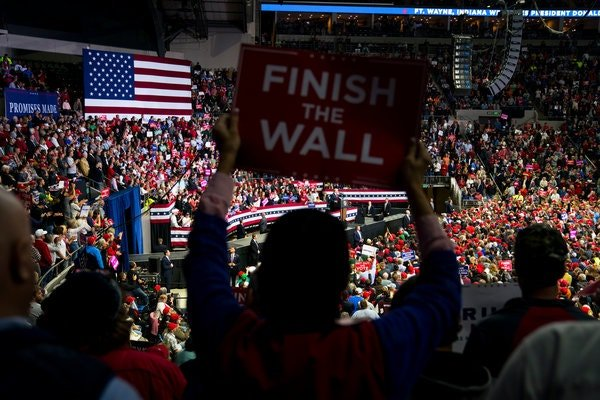 Mr. Trump's call for a border wall, initially a memory device to ensure that he spoke about immigration during campaign rallies, has become wildly popular with his core supporters.