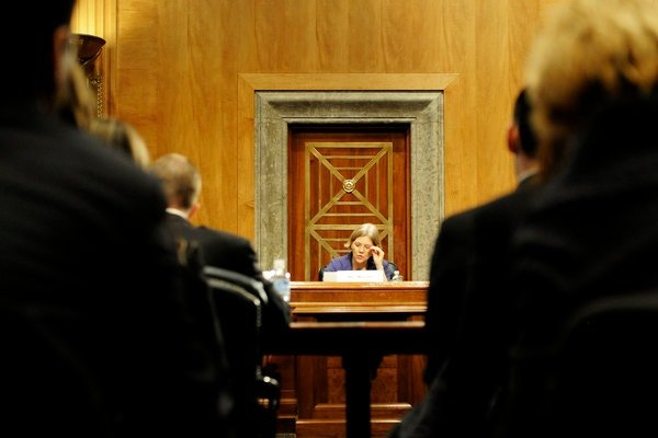 Ms. Warren presiding over a Congressional Oversight Panel hearing in 2010.