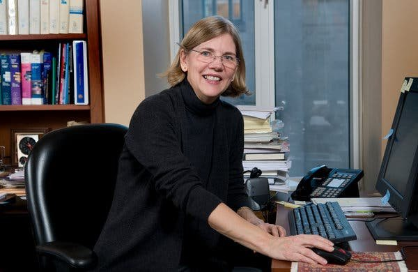 Ms. Warren in her office at Harvard Law School in 2008. It was while she was at Harvard that she began considering the idea of a new government regulator.