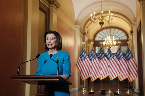 House Speaker Nancy Pelosi speaking on Friday about a bill in response to the coronavirus.