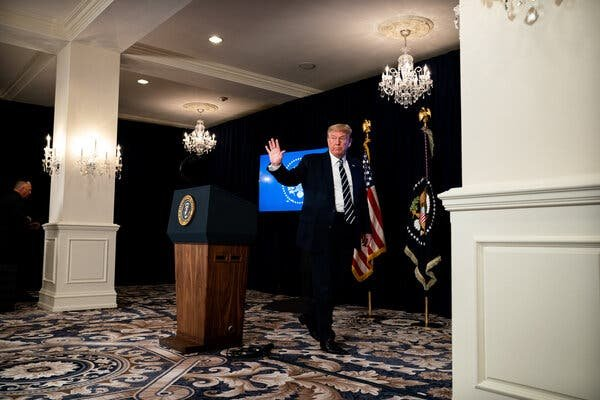 President Trump signed four actions on coronavirus relief after negotiations in Congress stalled. It's unclear what authority he has to do so, and the orders are likely to be challenged in the courts.Credit...Anna Moneymaker for The New York Times
