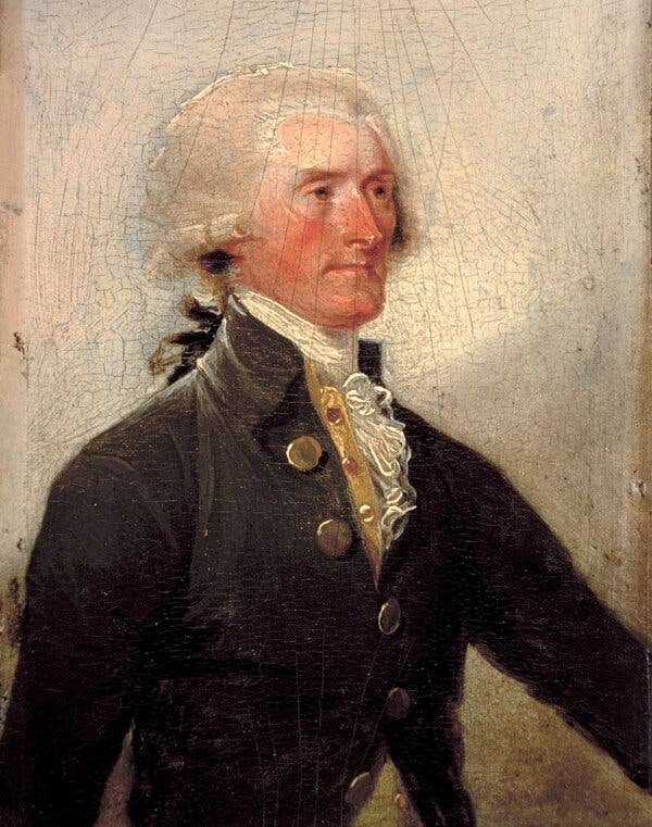 Before anyone had assumed the presidency: a 1788 portrait of Thomas Jefferson by John Trumbull.