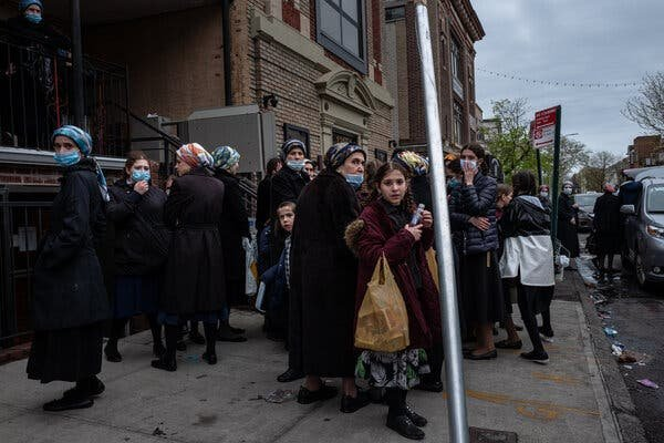 The Borough Park neighborhood of Brooklyn was hit hard by the coronavirus, reaching thousands of cases and hundreds of deaths by April.