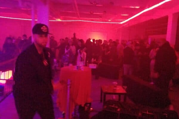 An illegal fight club in the Bronx borough of New York was shut down on Saturday.