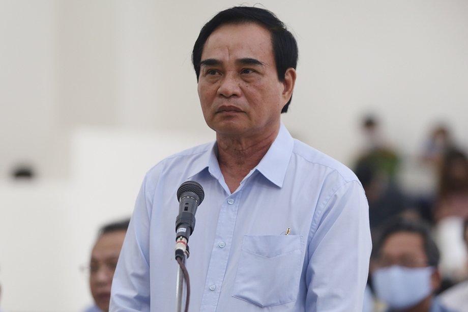 Cựu chủ tịch Văn Hữu Chiến tại phiên phúc thẩm. Ảnh: Phạm Dự.