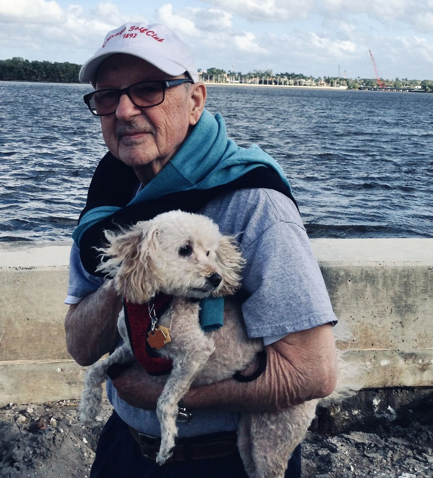 Bill Hession and his dog, Veronica, in Florida, on Jan. 22, 2019.