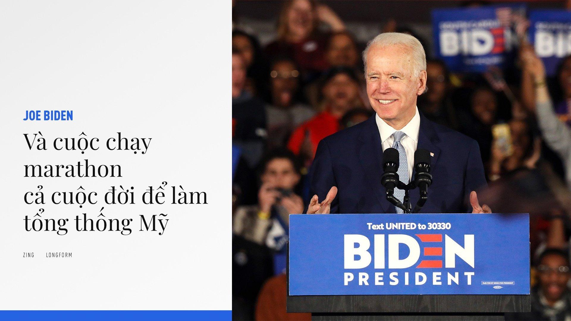 """Ông Biden đã có cuộc """"lội ngược dòng"""" ngoạn mục để giành vé đại diện cho đảng Dân chủ. Ảnh: AP."""