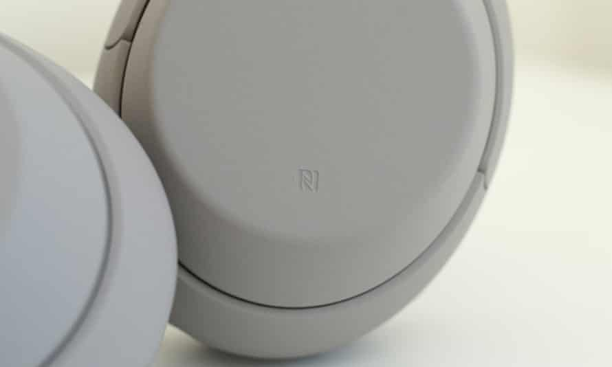One tap on the NFC spot is all that is needed to pair and connect compatible Android smartphones. Photograph: Samuel Gibbs/The Guardian