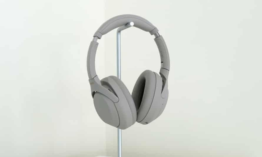 The XM4 are available in grey as pictured and black. Photograph: Samuel Gibbs/The Guardian