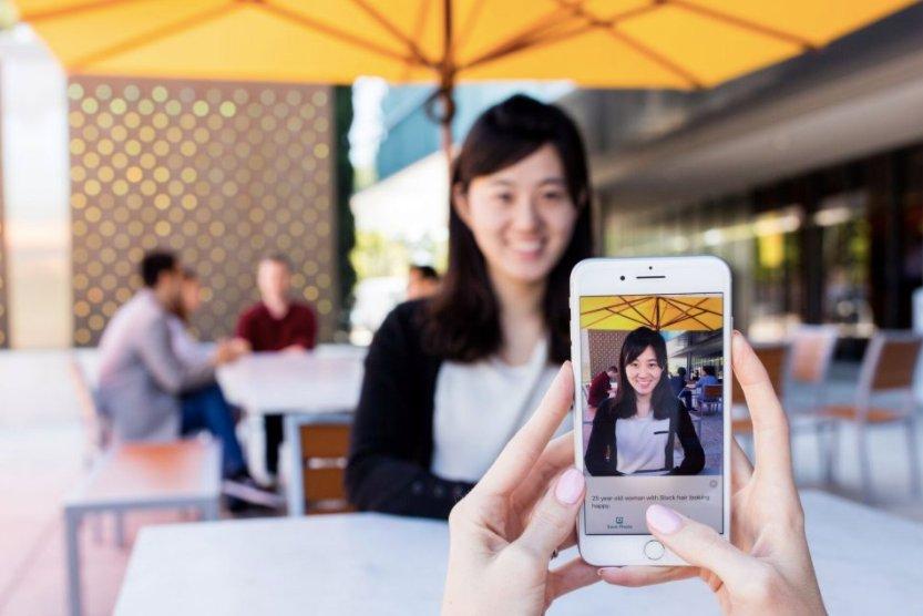 O aplicativo Microsoft Seeing.  Fonte: microsoft.com
