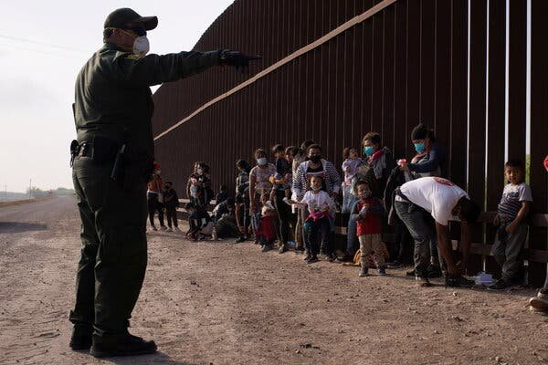 Over 4,100 minors were stuck in border facilities this week, far more than the 2,600 detained in border jails under the Trump administration at the peak of a similar surge in 2019.Credit...Adrees Latif/Reuters