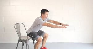 To get the most out of the workout, do each exercise at a relatively high intensity but go at your own pace. --
