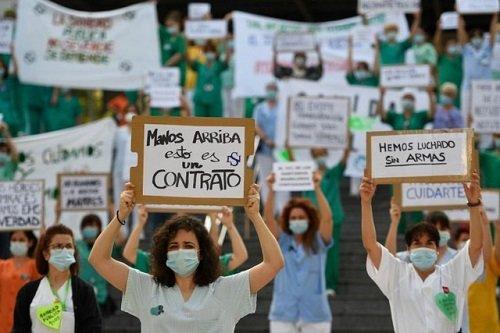 Tình hình dịch virus corona ngày 26/5: Bác sĩ Tây Ban Nha đồng loạt biểu tình vì thiếu thiết bị bảo hộ