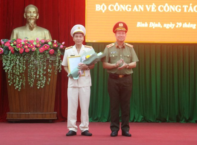 Bổ nhiệm Đại tá Võ Đức Nguyện giữ chức Giám đốc Công an tỉnh Bình Định