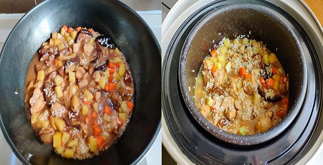 Cơm gà thập cẩm bằng nồi cơm điện, món ngon cho ai ngại vào bếp ngày hè nóng bức
