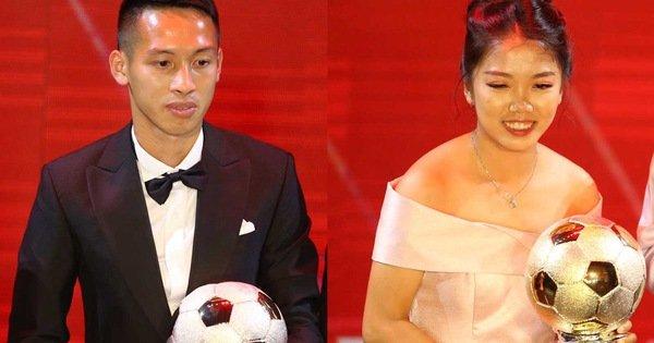 Đỗ Hùng Dũng và Huỳnh Như đoạt Quả bóng vàng 2019