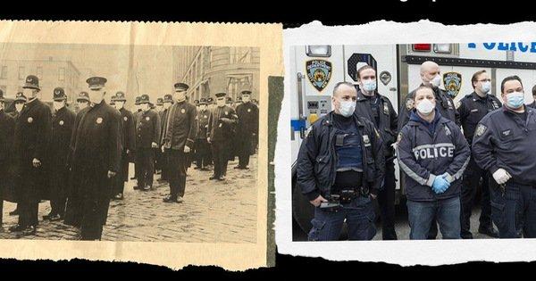 Xem những hình ảnh chống dịch một thế kỷ trước giống y hiện nay