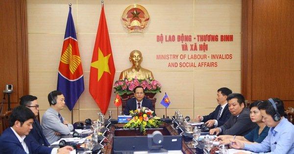 Các bộ trưởng lao động ASEAN họp bàn về ứng phó tác động của COVID-19