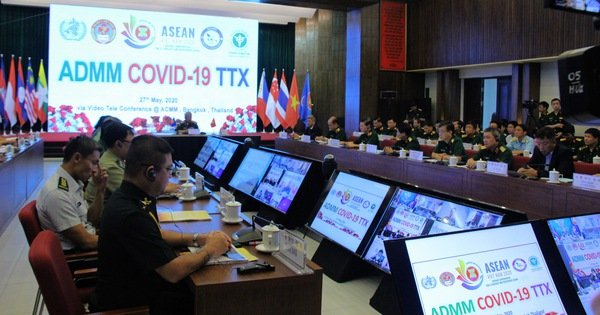 Quân y các nước ASEAN diễn tập phòng chống dịch COVID-19