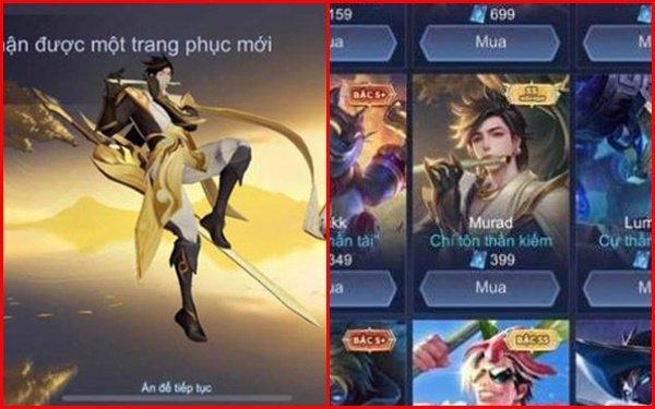 Garena thông tin chính thức vụ Murad Chí Tôn hiển thị giá 399 Quân Huy: Không có game thủ bị thiệt hại