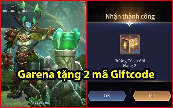 Liên Quân Mobile: Garena tặng 2 mã Giftcode, game thủ nhập ngay để trúng tướng vĩnh viễn