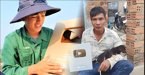 Nghề chính là phụ hồ nhưng vẫn đạt được nút vàng Youtube, đây chính xác là hai Youtuber nghèo mà nghị lực nhất Việt Nam