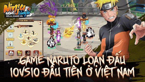 Game Naruto đấu tướng 10 vs 10 Ninja Làng Lá Mobile cập bến làng game Việt