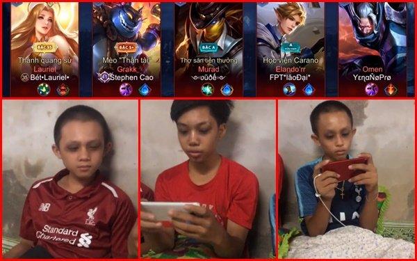 3 cháu nhỏ mắt thâm quầng vì cày game mobile thâu đêm khiến dân mạng lo ngại