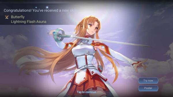 Liên Quân Mobile: Tận dụng tốt Giấy vẽ, Butterfly Asuna Tia Chớp tới tay game thủ hoàn toàn FREE