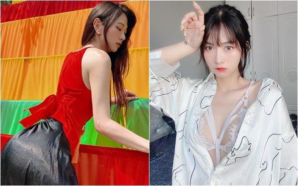 """Mặc áo yếm khoe vòng 3 nảy nở, hot girl Lê Bống thêm một lần khiến CĐM """"bỏng mắt"""" với hình ảnh mới nhất"""