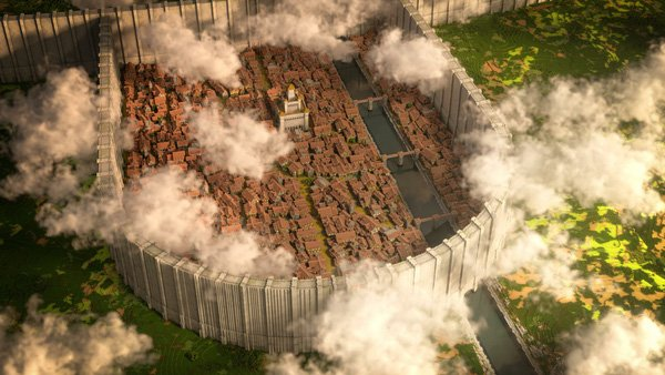 Gamer Minecraft 'dành cả thanh xuân' để xây bức tường Attack on Titan tỷ lệ 1:1 đẹp y như thật