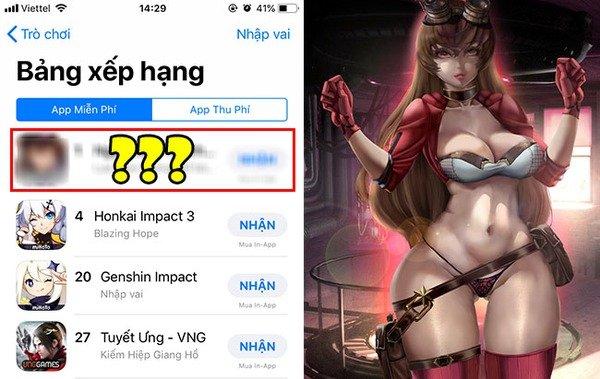 """Không những hơn Genshin Impact đến... 20 bậc trên BXH App Store, tựa game này còn """"hất cẳng"""" hàng loạt bom tấn sừng sỏ tại Việt Nam"""