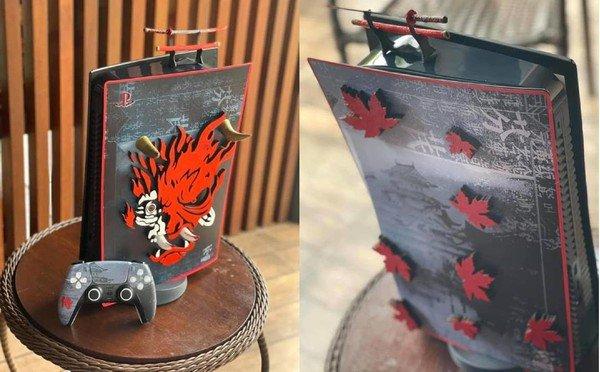 Ngỡ ngàng trước PS5 phiên bản kết hợp với Cyberpunk 2077 vô cùng đẹp mắt của game thủ Việt
