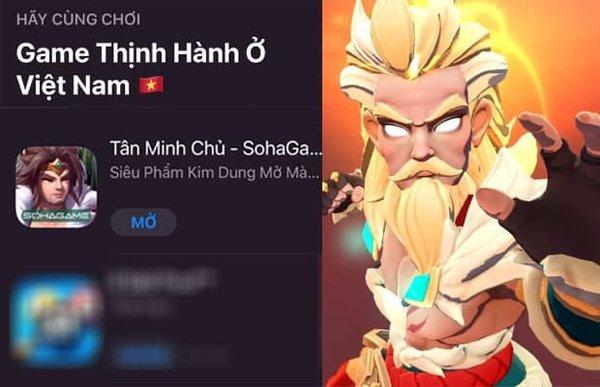 HOT: Tân Minh Chủ đoạt TOP 1 Game Thịnh Hành Store trên toàn bộ thị trường Việt Nam, xin nhắc lại là toàn bộ thị trường!