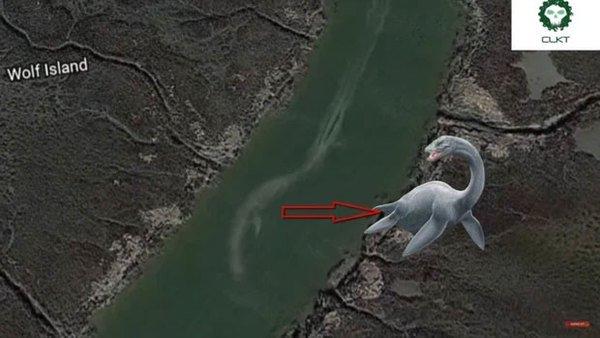 Những thuỷ quái khổng lồ vô tình được Google Earth ghi lại