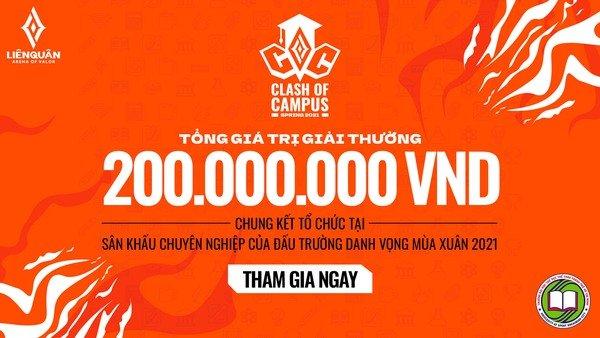 Khởi động giải đấu Liên Quân Mobile dành cho sinh viên, tổng giá trị giải thưởng hấp dẫn lên tới 200 triệu đồng