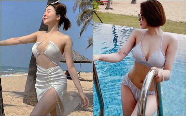 Khoe ảnh nóng bỏng với bikini trên biển, Trâm Anh khiến CĐM phải bỏng mắt, hết lời khen ngợi nhan sắc