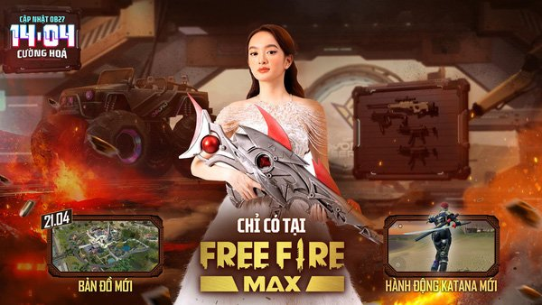 Sảnh chờ Free Fire Max OB27 khiến tất cả ngỡ ngàng với sự xuất hiện của Kaity Nguyen