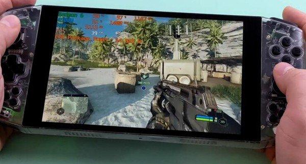 Mở hộp máy chơi game cầm tay đầu tiên trên thế giới trang bị AMD Ryzen 4500U, cân mọi tựa game