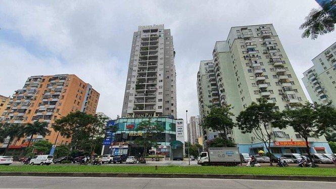Hô biến bãi xe cao tầng thành chung cư Golden Palace ở Hà Nội