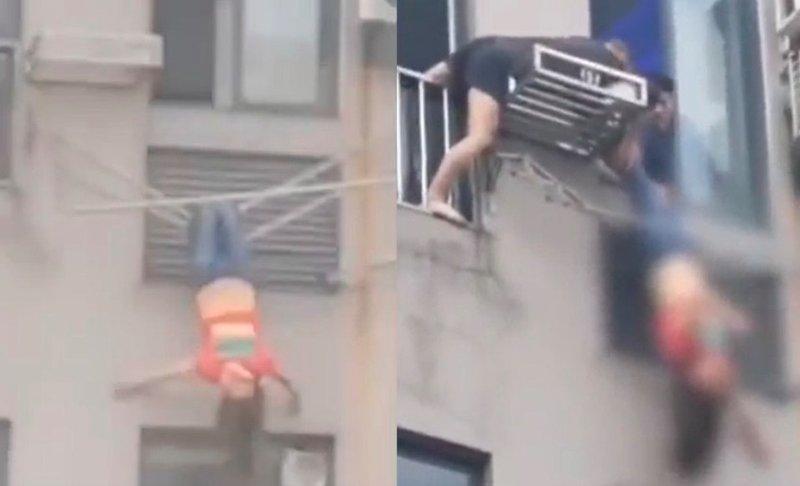 Say xỉn, thiếu nữ TQ suýt chết vì leo qua cửa sổ chung cư