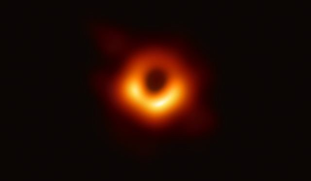 a black hole surrounded by light