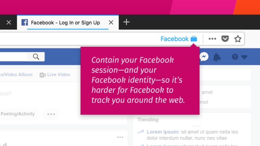 Firefox ekstenzija Facebook Container